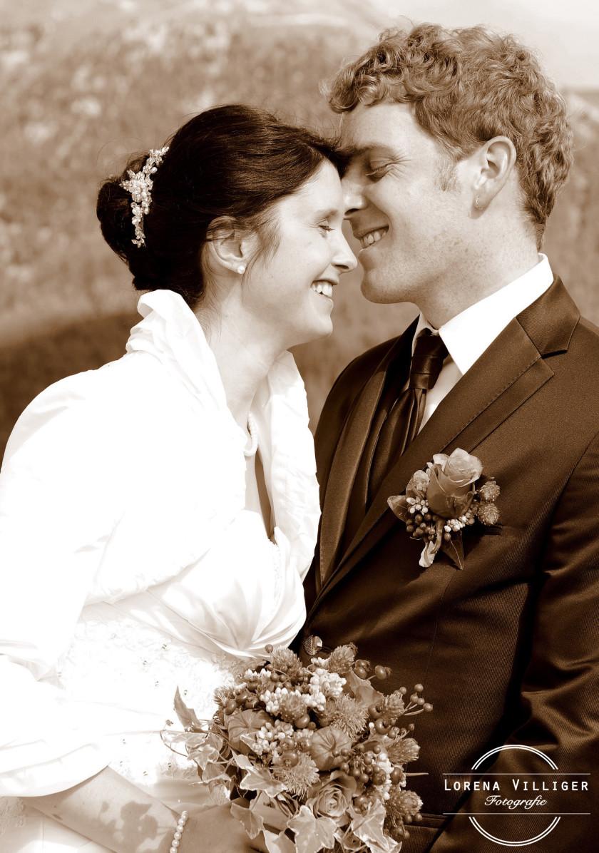 Eine wunderschöne Hochzeit in den Bergen…